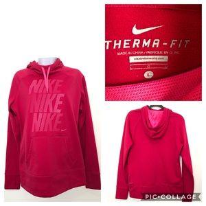 Nike Women's Pink Hooded Pullover Sweatshirt